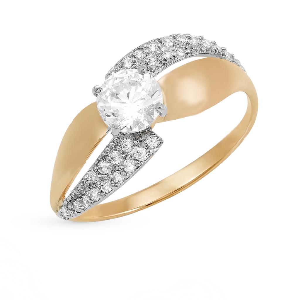Фото «золотое кольцо с бриллиантами, фианитами и агатами»