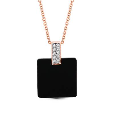 Фото «золотая подвеска с бриллиантами и ониксом»