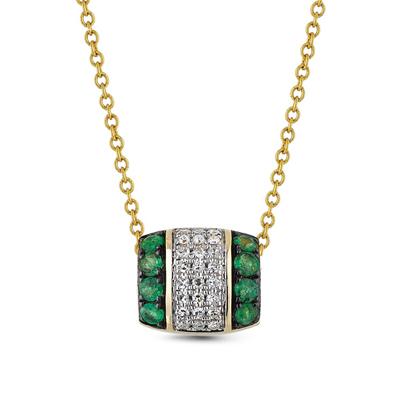 Фото «золотая подвеска с изумрудами и бриллиантами»