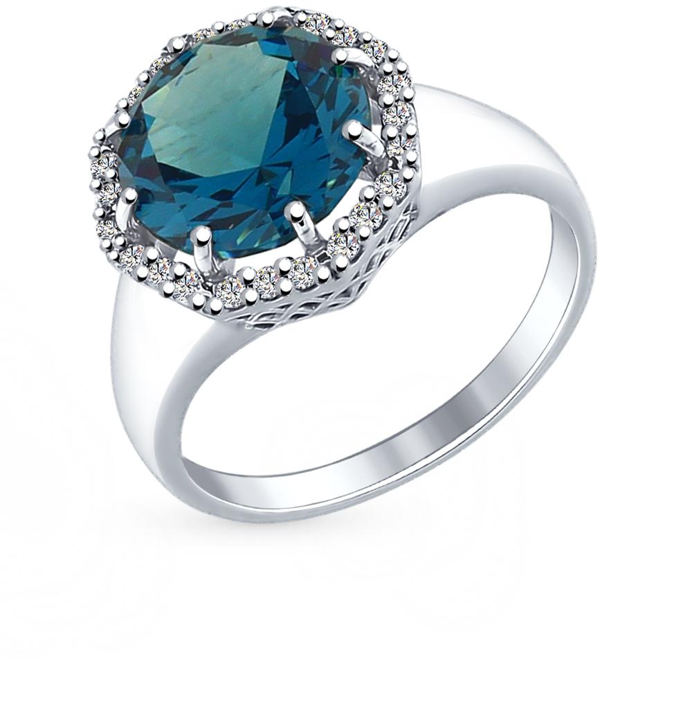 Фото «серебряное кольцо с лондонами ситалами и фианитами»