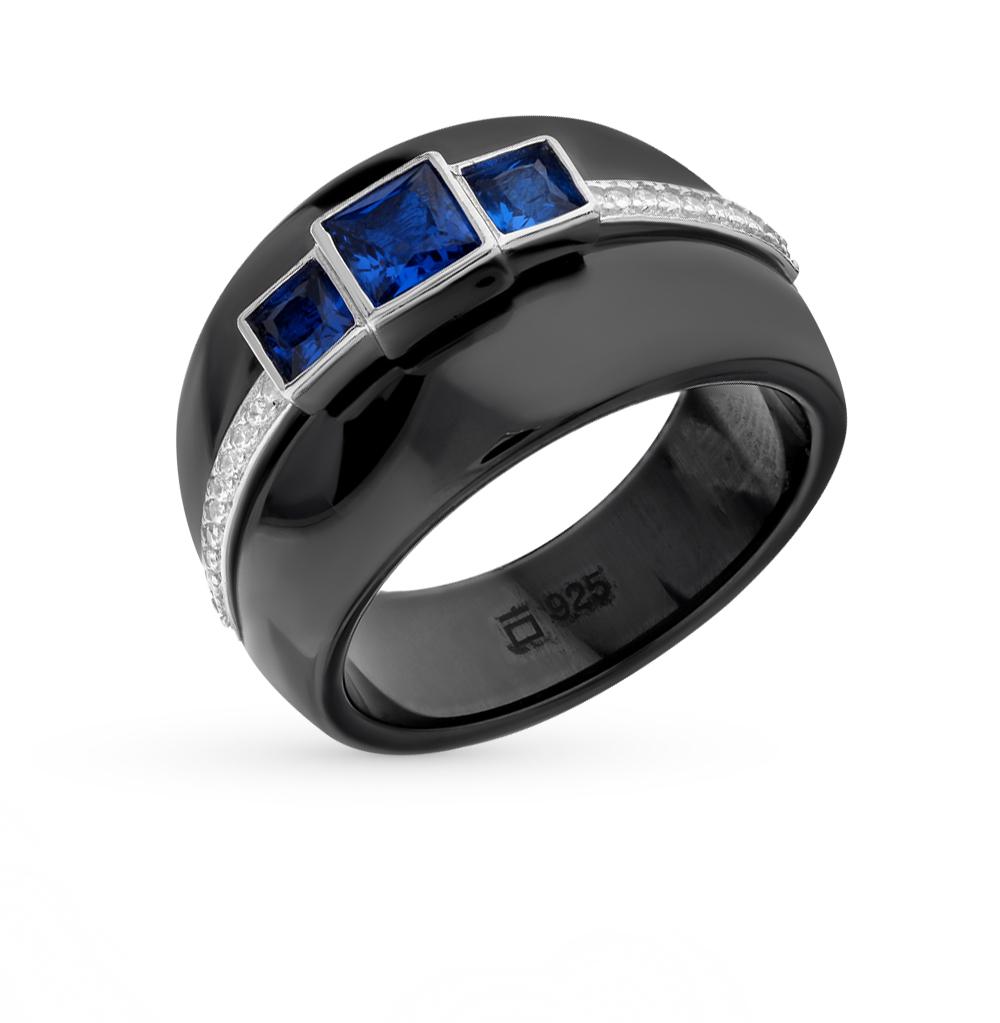 Фото «кольцо из керамики с фианитом и серебром»