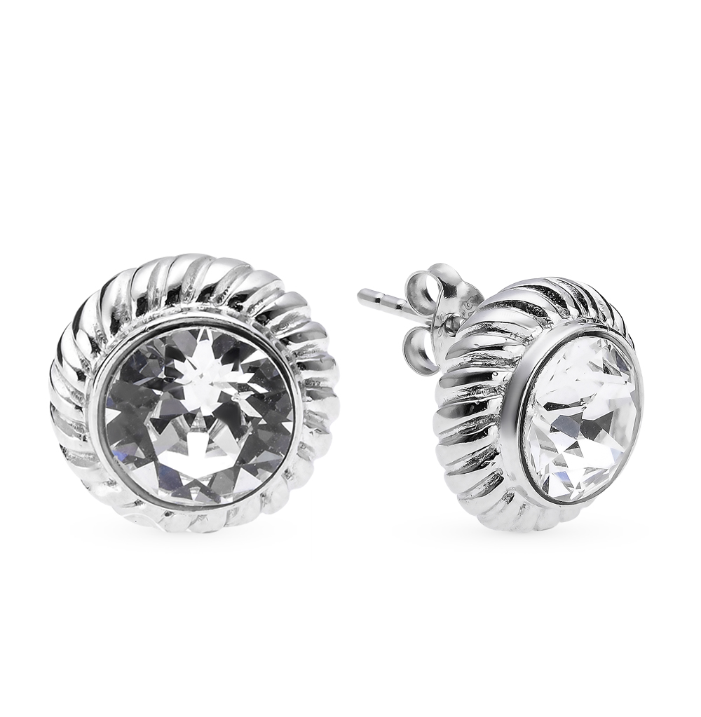 Фото «серебряные серьги с кристаллами»