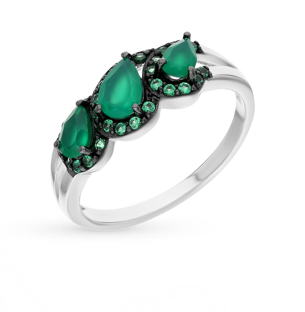 Фото «серебряное кольцо с нанокристаллами и агатами»