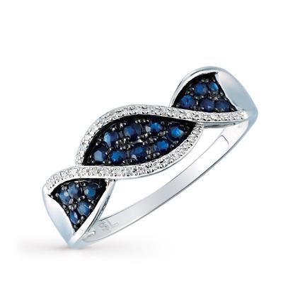 Фото «золото кольцо с бриллиантами и сапфирами»