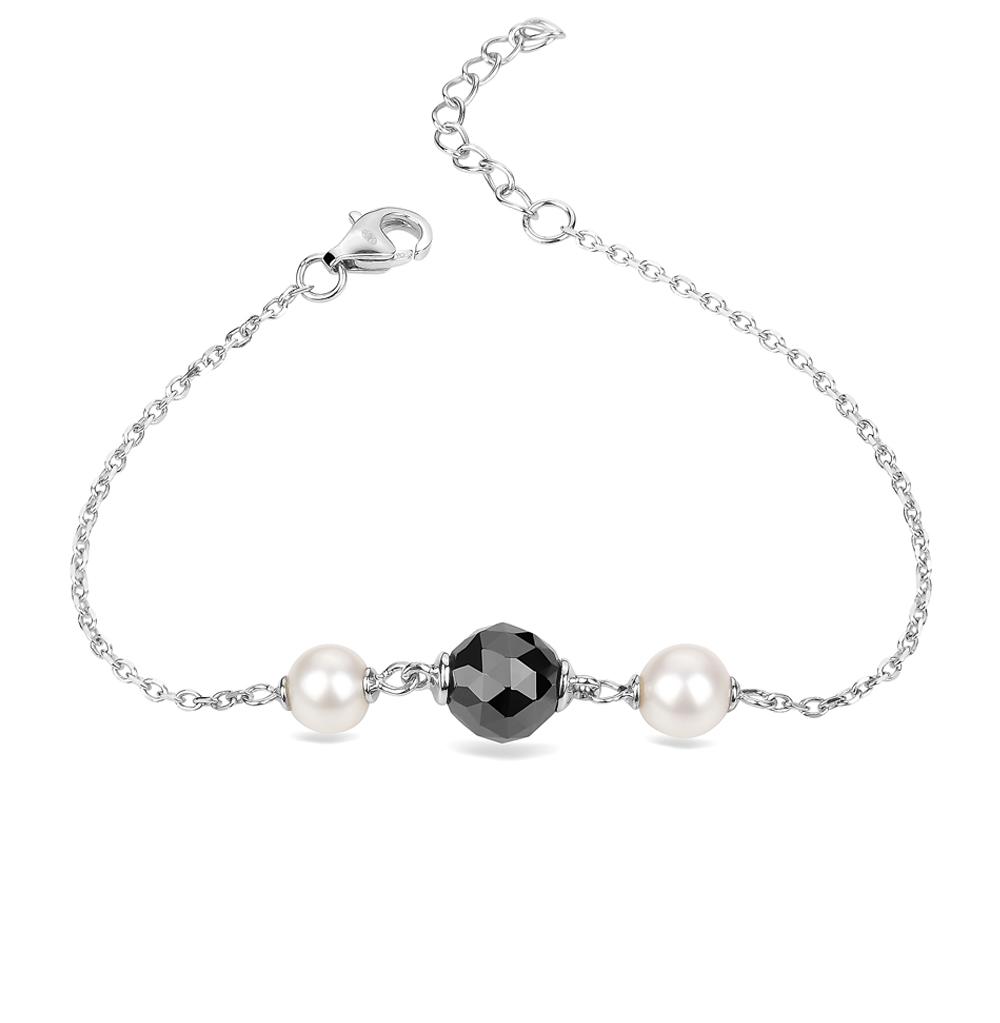 Фото «браслет из серебра с жемчугом и керамикой»