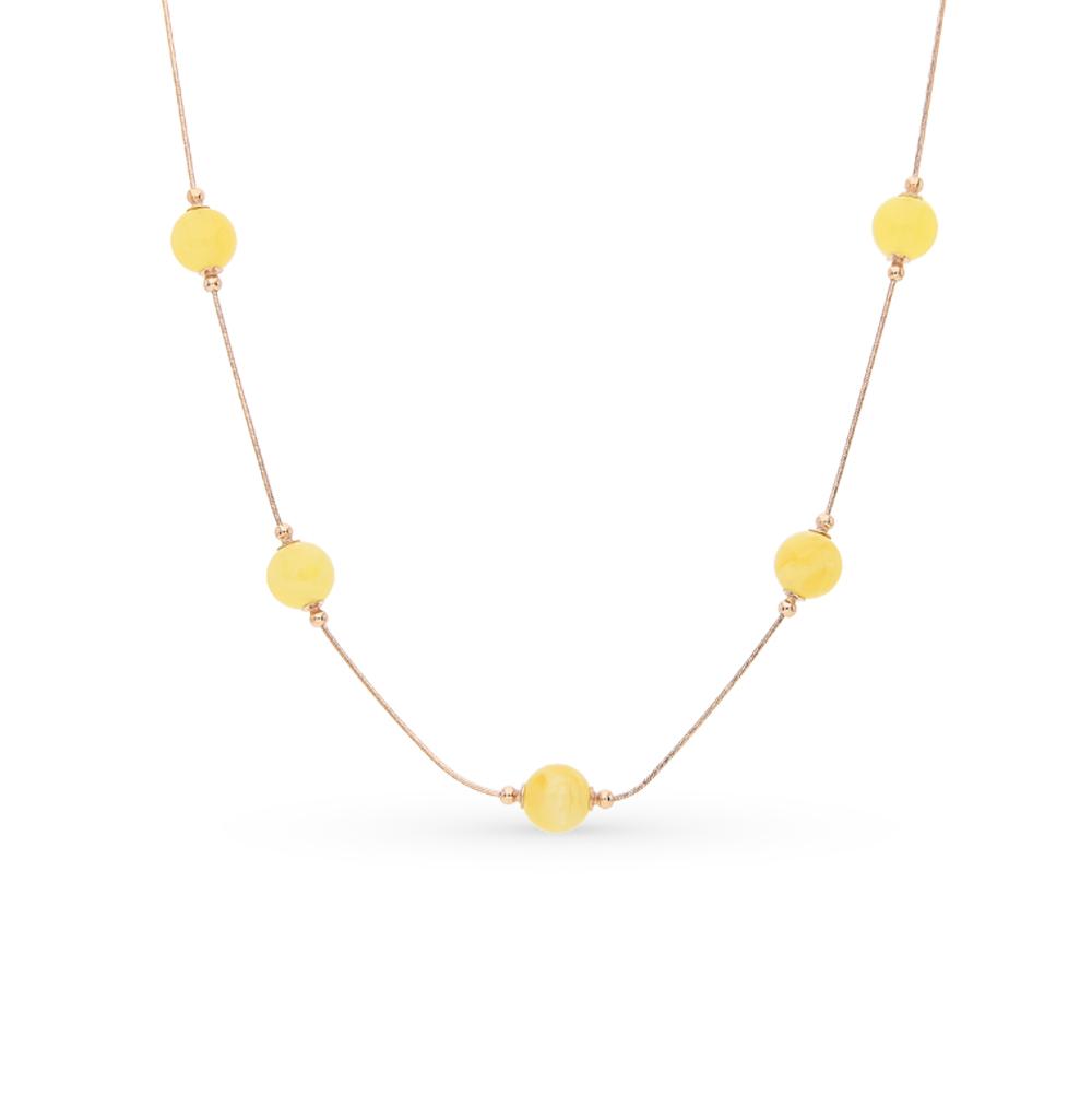 Фото «золото колье с янтарём»