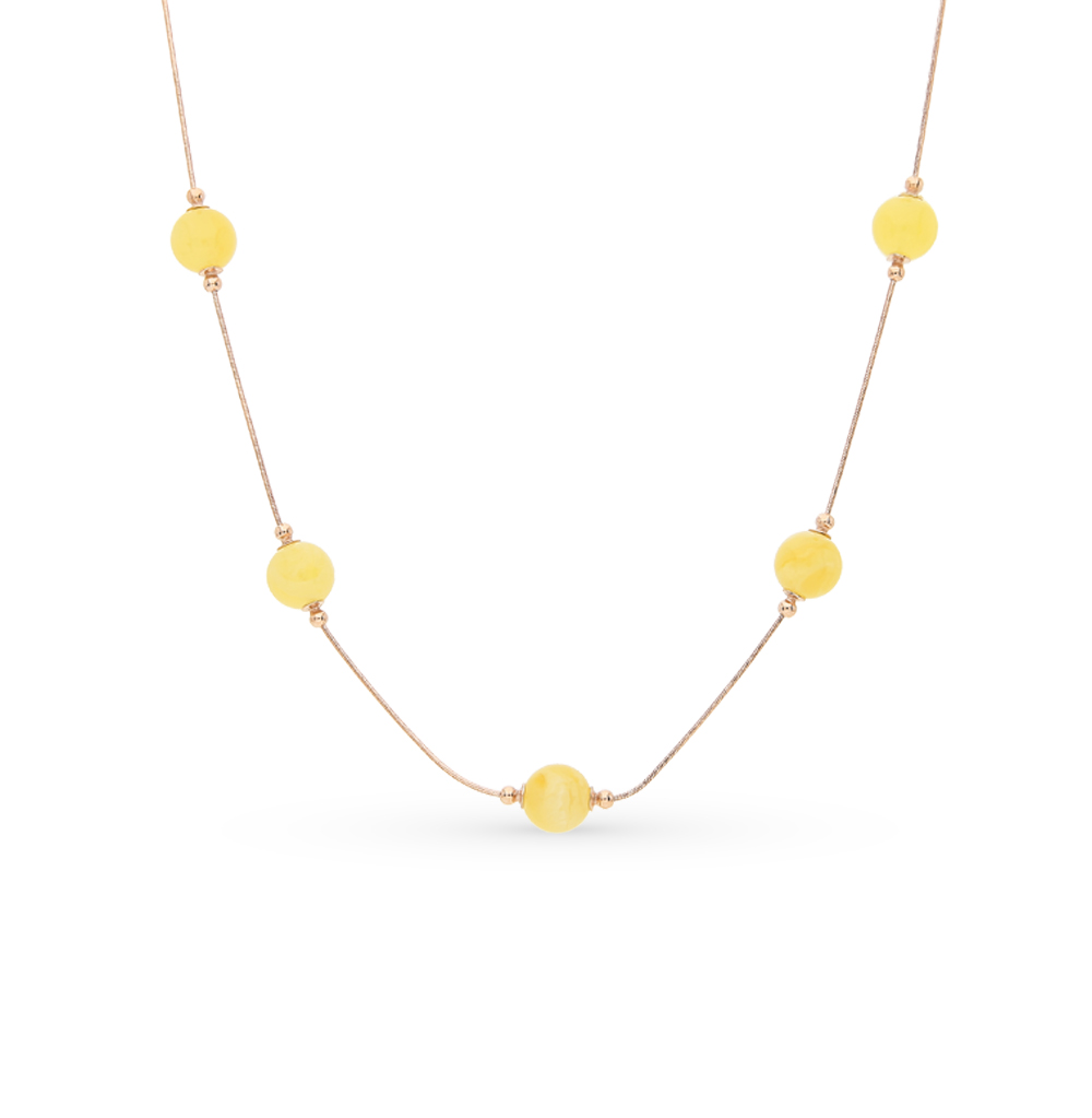 Фото «золото колье с янтарем»