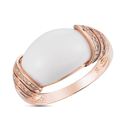 Фото «золотое кольцо с бриллиантами и агатами»