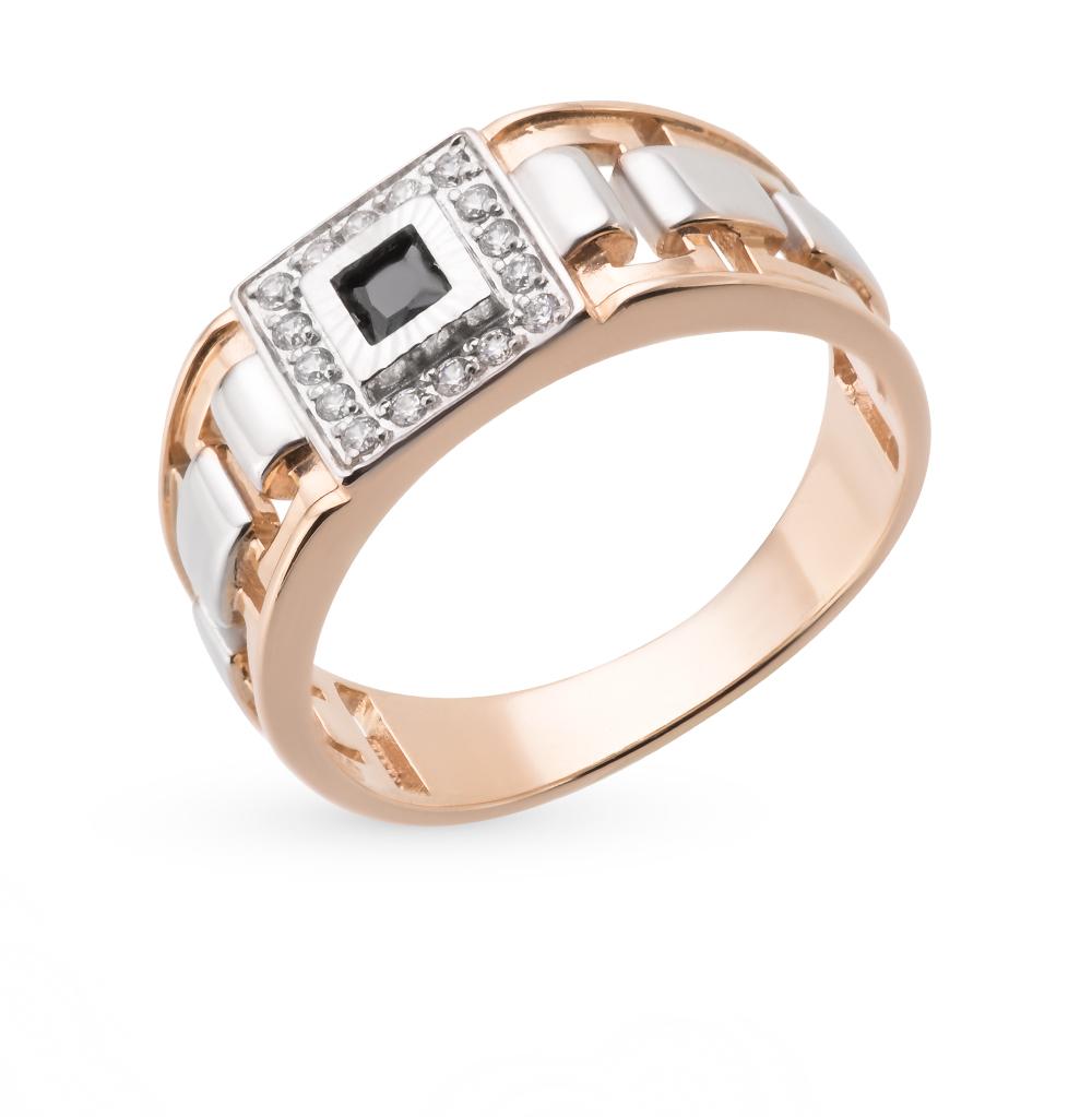 Фото «золотое кольцо с бриллиантами, цитринами и фианитами»
