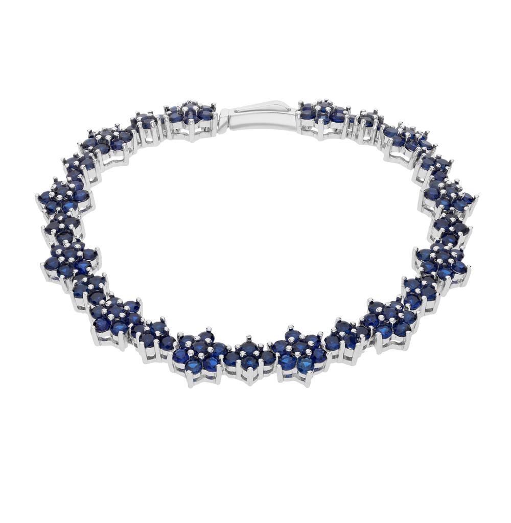 Фото «серебряный браслет с шпинелями»