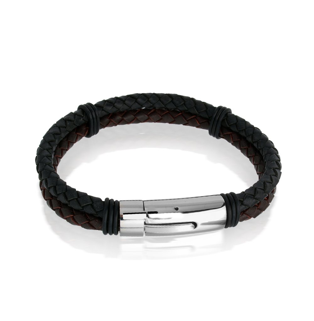 Фото «кожаный браслет с сталями»