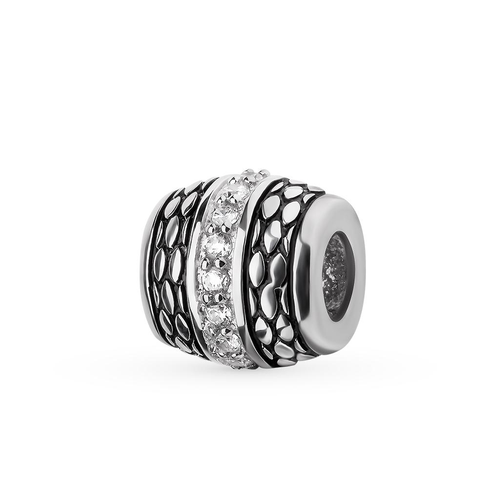 Фото «серебряная подвеска - шарм с фианитами и эмалью»